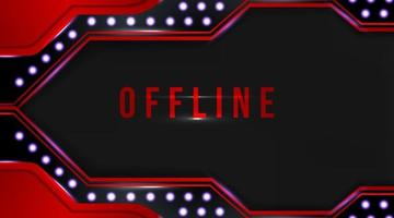 Modern offline banner with abstract background for streaming vector