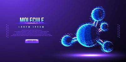 molecule dna low poly wireframe vector illustration