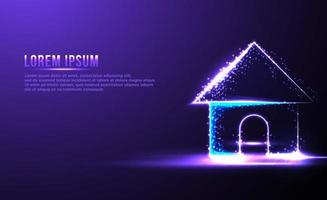 House Home abstract Low poly wireframe vector ilustration
