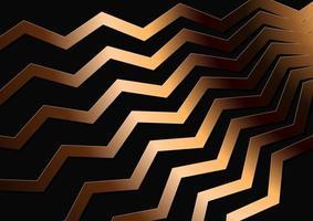 fondo abstracto con un patrón de zig zag dorado vector