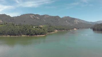 Mattupetty Lake beautiful scenery amidst mountainous valley in Munnar, India video