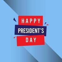 Happy President's Day Celebration Vector Template Design Illustration