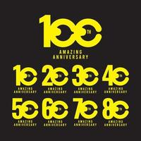 100 Th Amazing Anniversary Celebration Vector Template Design Illustration Logo Icon