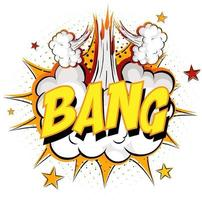 Word Bang on comic cloud explosion background vector