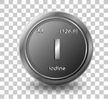 Iodine chemical element vector