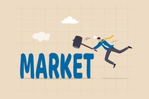 Beating the stock market concept vector