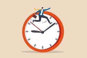 eficiencia del trabajo, gestión del tiempo para ayudar a terminar el trabajo multitarea o concepto de productividad inteligente vector
