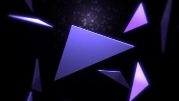 fundo abstrato dos triângulos de movimento video