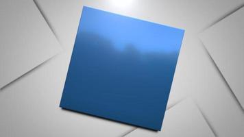 movimento quadrados azuis fundo abstrato video