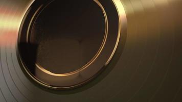 movimento ouro forma redonda, fundo abstrato video