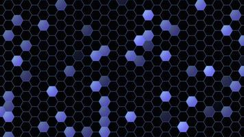 Fondo abstracto hexagonal de movimiento