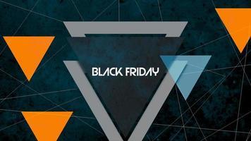 Animation Intro Text schwarzer Freitag auf Mode und Club Hintergrund mit leuchtenden Dreiecken video