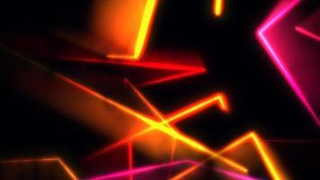 abstrait de lignes de néon coloré de mouvement