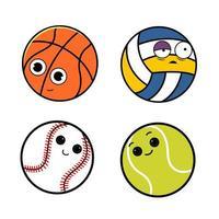 Cute Ball Character vector