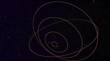 mouvement forme géométrique dans l'espace, fond abstrait video