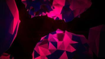 animação abstrato orbe líquido vermelho no cosmos, fundo preto video