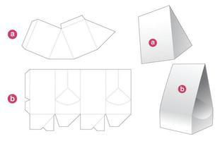 Packaging bag and lid die cut template vector