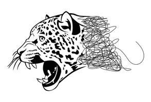 Jaguar drawing and sketch vector