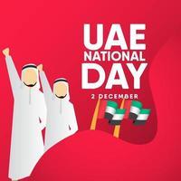 UAE National Day Celebration Vector Template Design Illustration