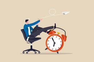 productividad y eficiencia en el trabajo, procrastinación o gestión del tiempo o fecha límite del proyecto, concepto de empleado de mejor desempeño vector
