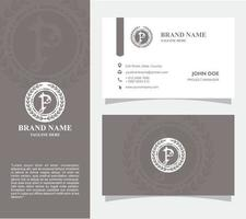 Bussiness Card with Logo P Vector, Eps 10 vector