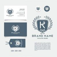 Bussiness Card with Logo K Vector, Eps 10 vector