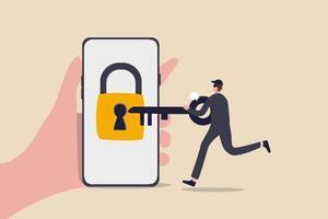 seguridad cibernética, pirata informático que roba dinero en línea, phishing o concepto de amenaza bancaria digital vector