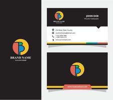 tarjeta de visita con logo b vector, eps 10 vector