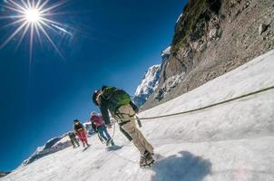 Mountaineering school for children photo