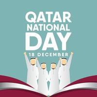 Qatar National Day Vector Template Design Illustration