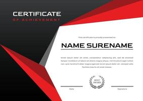 certificate design template for achievement, sport tournament and competition vector