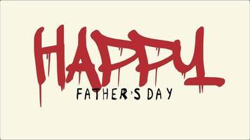 animación texto día del padre en hipster amarillo y fondo retro con scratch en estilo 90