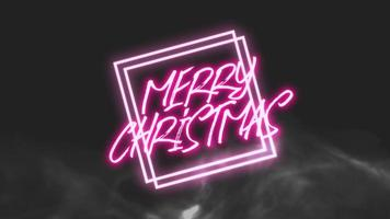 animação texto de introdução feliz natal em fundo de moda e clube com moldura brilhante video