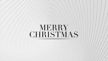 texto de introducción de animación feliz navidad sobre fondo blanco de moda y minimalismo con líneas blancas de vértigo
