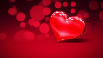 animação closeup movimento corações românticos no fundo brilhante do dia dos namorados