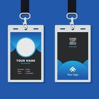 professional corporate id card template mockup vector
