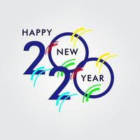 Happy New Year 2020 Celebration Vector Template Design Illustration