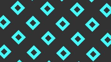 introdução de movimento pequenos quadrados azuis geométricos, fundo abstrato