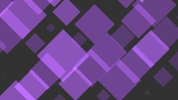 Intro de movimiento geométricos cuadrados púrpuras, fondo abstracto