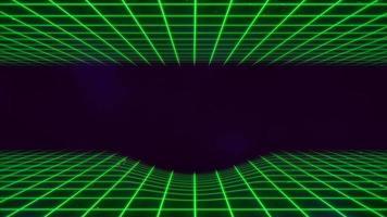 beweging retro groene lijnen in de ruimte, abstracte achtergrond