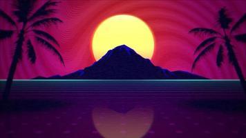Bewegung Sommer Hintergrund, Retro abstrakte befreien und Berg
