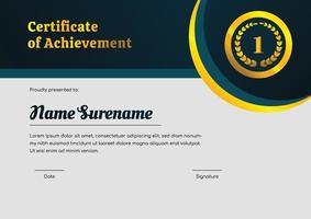 certificate design template for achievement vector
