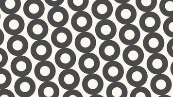 movimento introdução círculos pretos e brancos geométricos, fundo abstrato