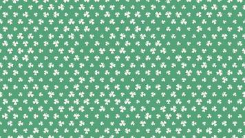 Bewegung grüne Kleeblätter, Saint Patricks Day Animation Hintergrund video