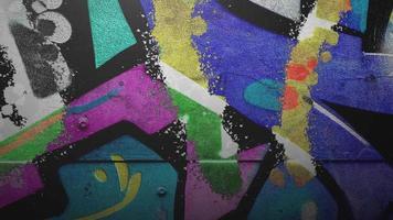Animación genérica de la pared del grunge del edificio en la calle en día de verano