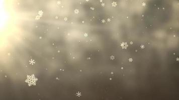 weiße Schneeflocke fällt. Frohes neues Jahr und frohe Weihnachten glänzenden Hintergrund