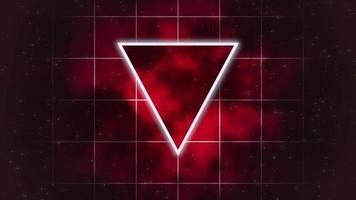 rörelse retro triangel abstrakt bakgrund video