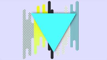 beweging abstracte geometrische vormen, kleurrijke achtergrond