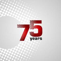 75 Years Anniversary Vector Template Design Illustration