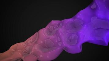 mouvement formes futuristes liquides violet foncé, fond géométrique abstrait